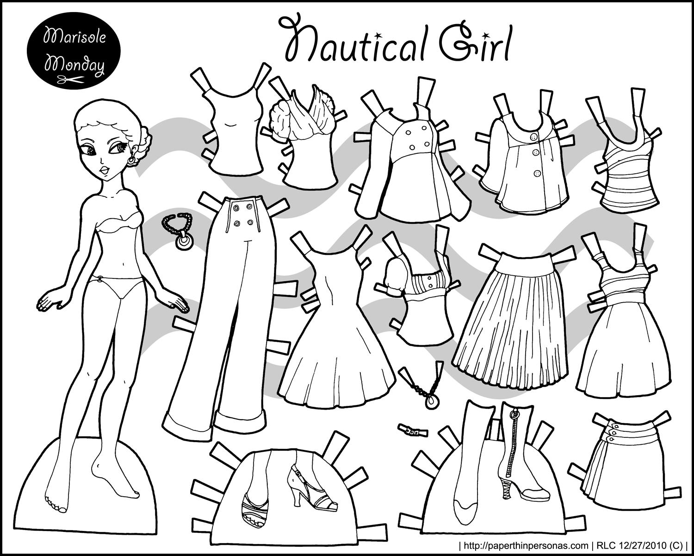 Раскраска кукла одевать