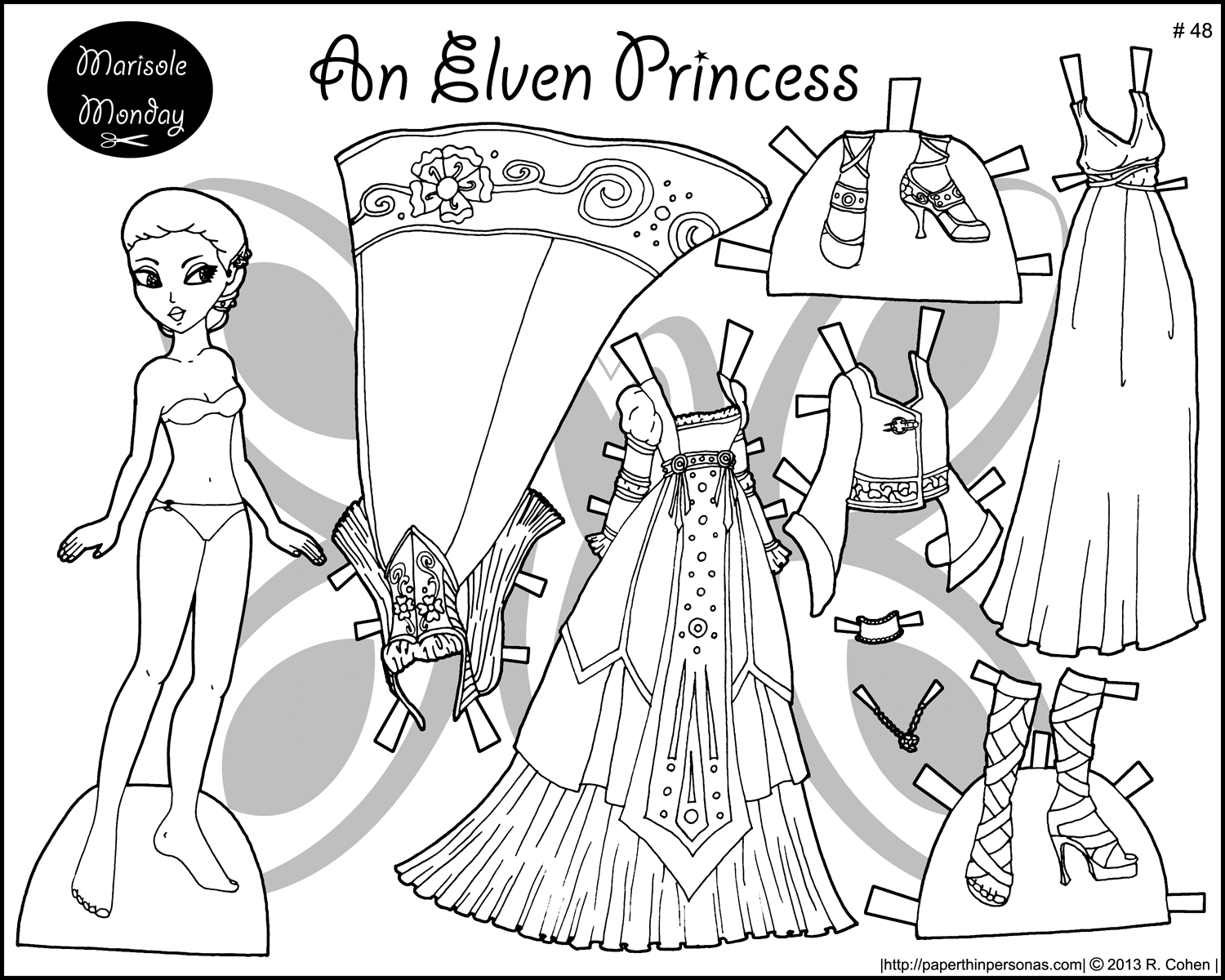 Uncategorized Paper Doll Coloring Page four princess coloring pages to print dress an elf page and up shes got two gowns
