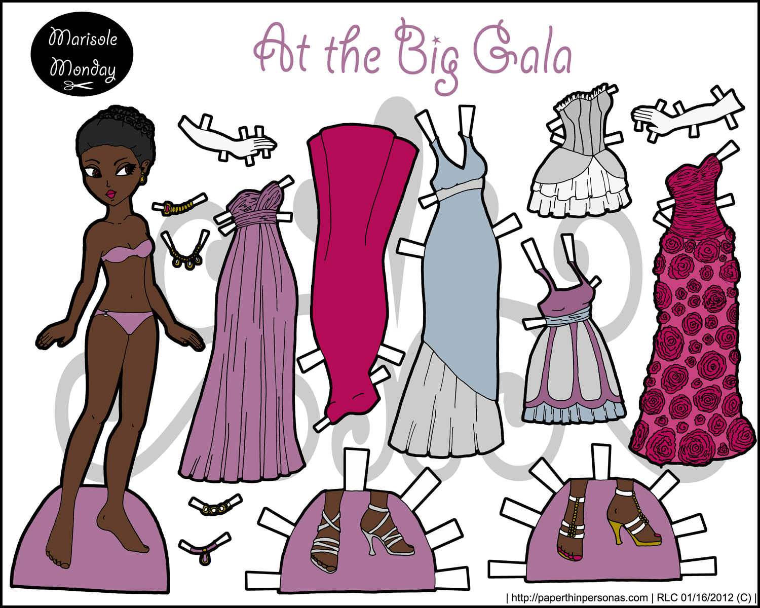 Sweet image within paper dolls to printable