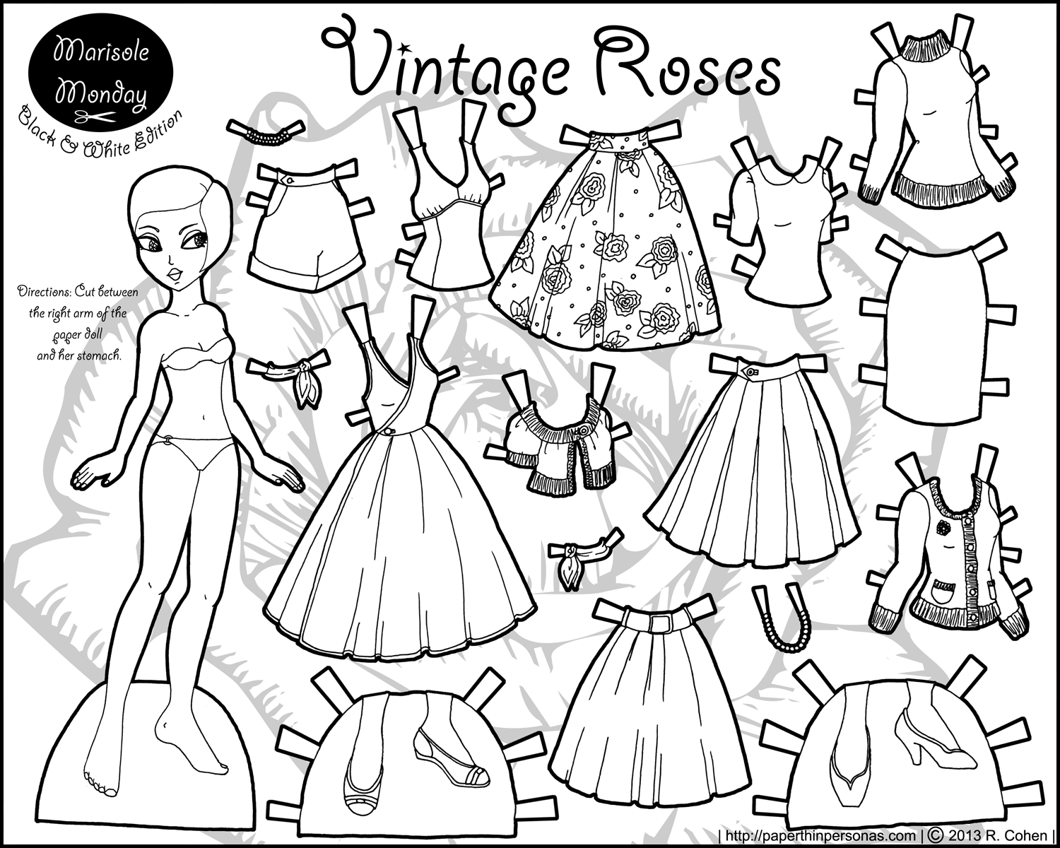 Printable Paper Dolls And Clothes Coloring Coloring Pages