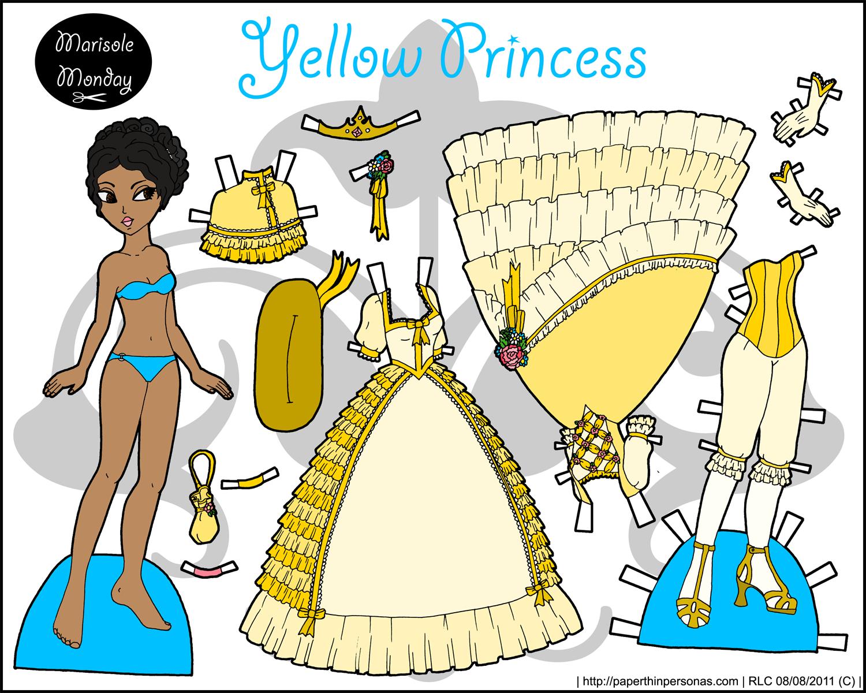 marisole monday yellow princess paper thin personas. Black Bedroom Furniture Sets. Home Design Ideas