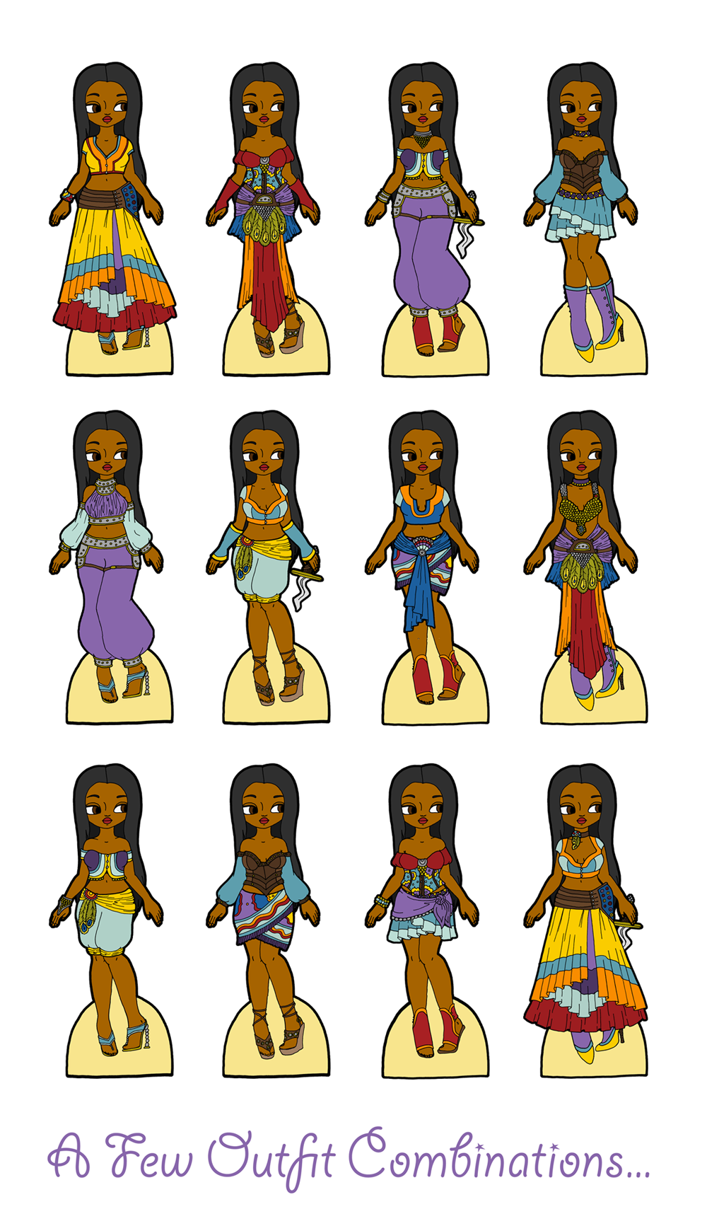 Magnetic paper doll archives paper thin personas flock fairy tales oriole as morgiana from ali baba and the forty thieves ccuart Images