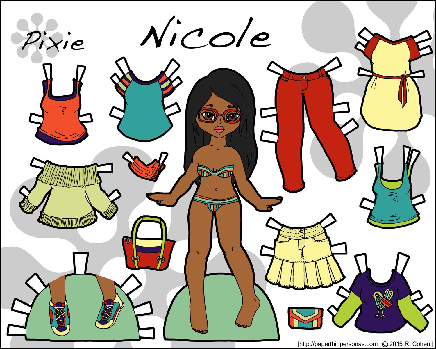 Nicole: A Printable Fashion Paper Doll