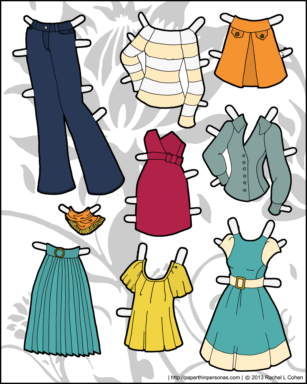 And yet more clothing for the Ms Mannequin Printable Paper Dolls
