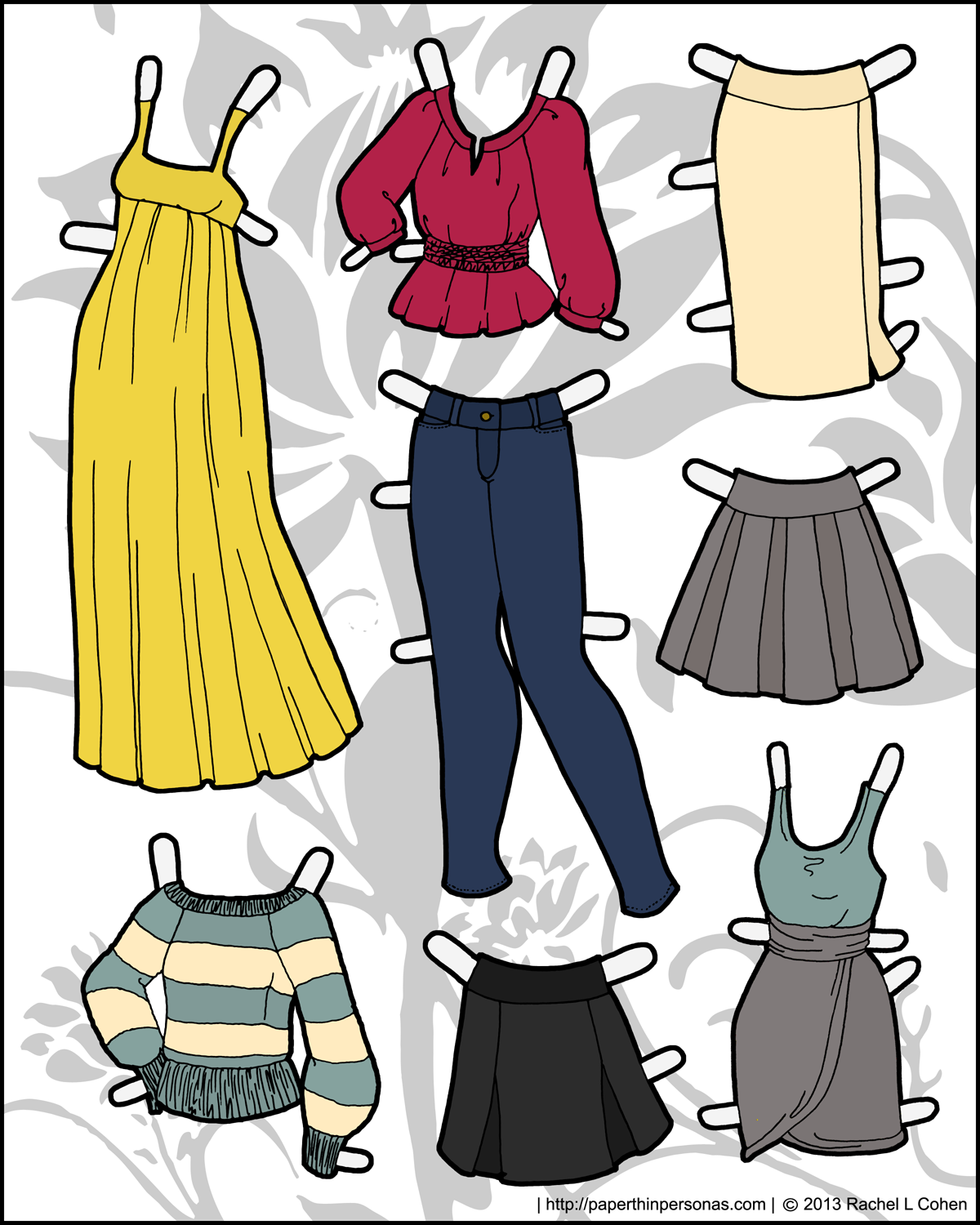 paper doll dresses Celebrate the winter season with a fun paper doll activity help your child cut out these colorful outfits, and see if she can pick out the winter clothes.