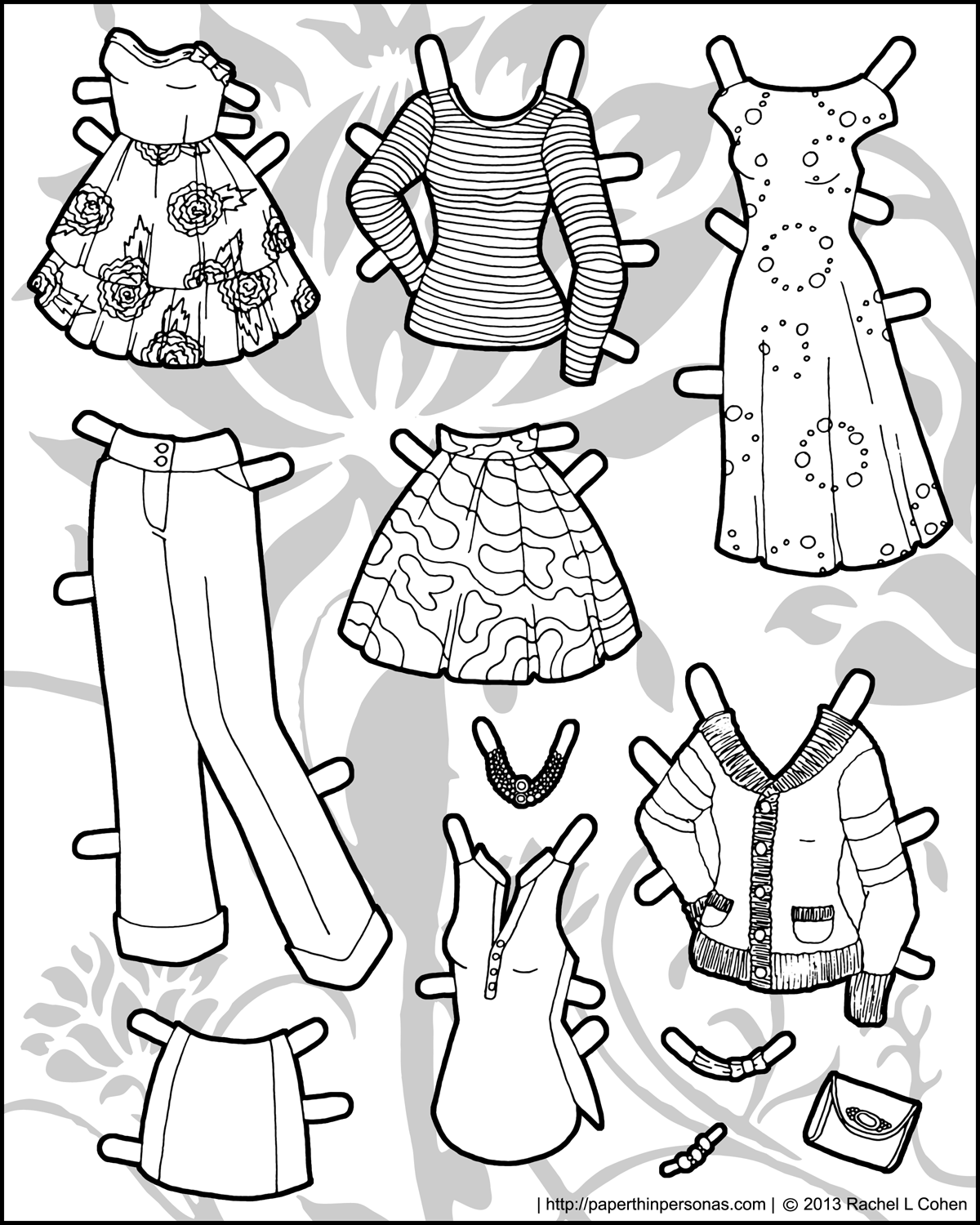 photograph relating to Paper Doll Clothing Printable named Enjoying with Habit upon Ms. Model Paper Doll Apparel