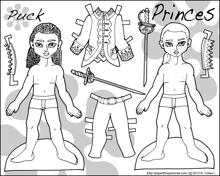 puck-prince-paper-doll-bw
