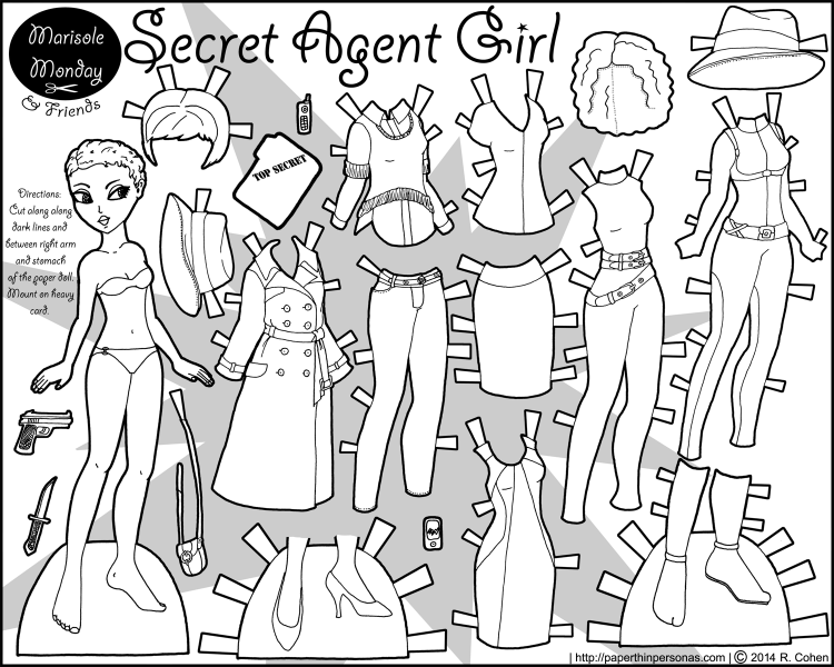 secret-agent-paper-doll-marisole-black-white
