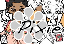 Pixie Logo- Valentine's Day Paper Doll
