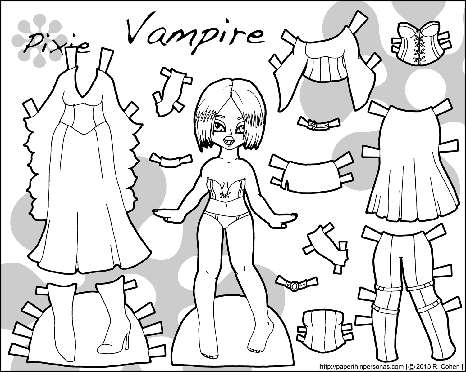 happy halloween have a vampire printable paper doll u2022 paper thin