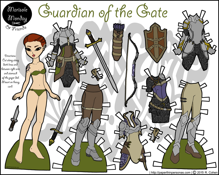 warrior-printable-paper-doll-color