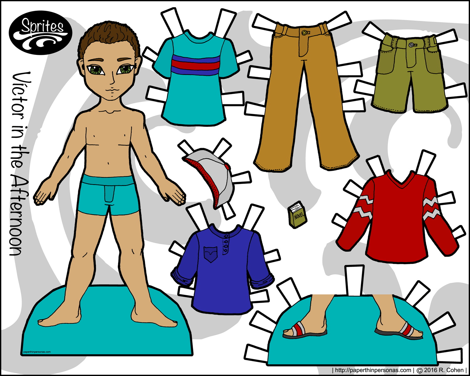 photo relating to Paper Doll Clothes Printable titled Victor within just the Afternoon: A Boy Paper Doll