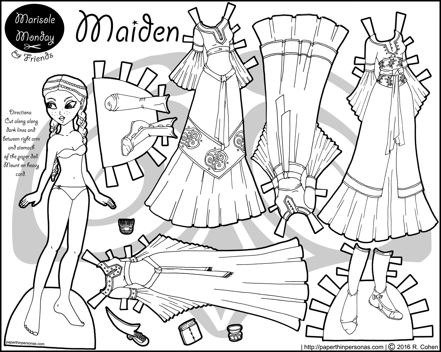 Maiden: A Printable Princess Paper Doll