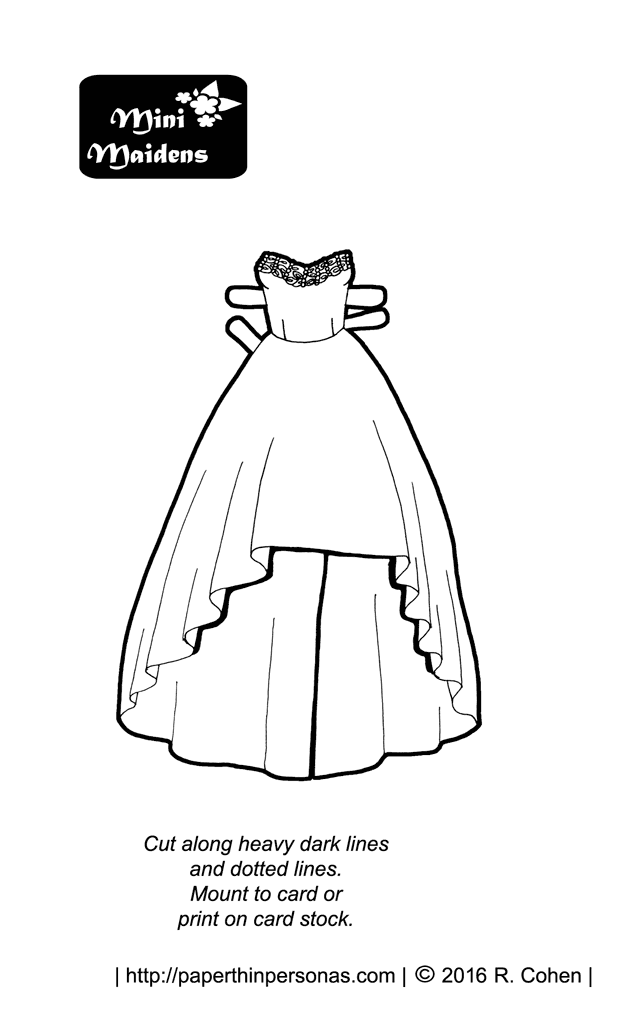 Party Dress Coloring Pages