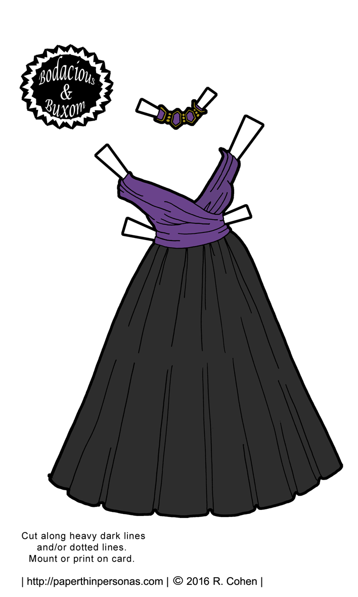 B&B Paper Dolls Get a Printable New Years Gown