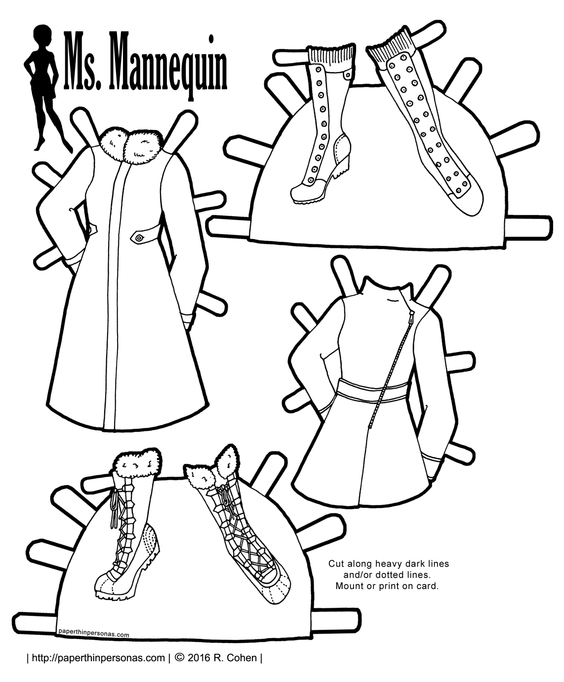 Ms Mannequin Coats and Boots for Fashionable Winter Wear  Paper