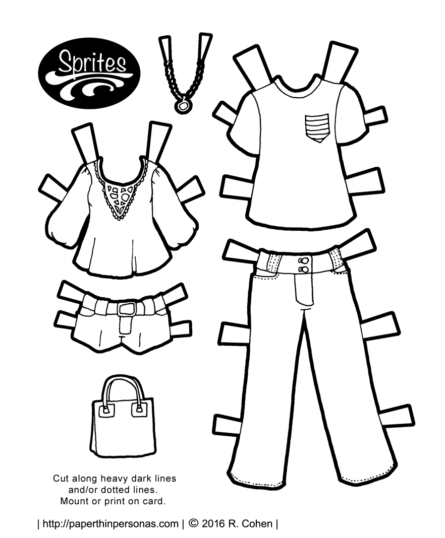 printable paper dolls from paper thin personas 1960S -Style black