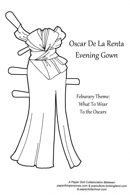 An Oscar worthy evening gown based on an Oscar De La Renta design from Pre-Fall 2014.