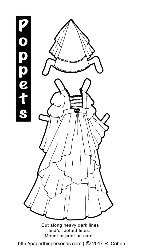 The Poppets Purple Princess Dress Headdress