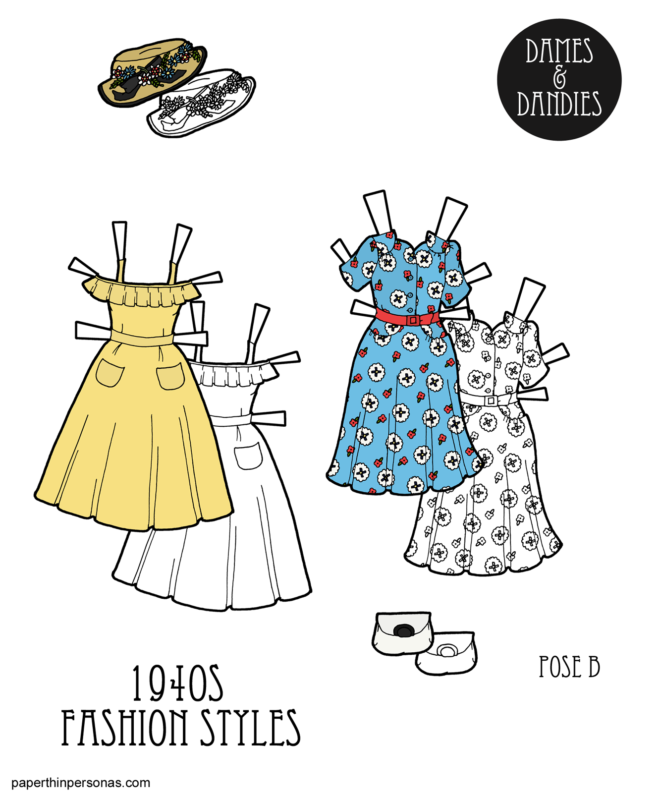 1940s Week: The 1940s Summer Paper Doll Dresses from Vintage Sewing ...